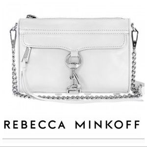 Rebecca Minkof crossbody bag in White